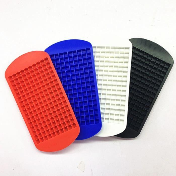 Silicone 160 glaçon petit cube glaçon machine à glace pilée film de glace en silicone petit plateau à glaçons moule à glace, blanc
