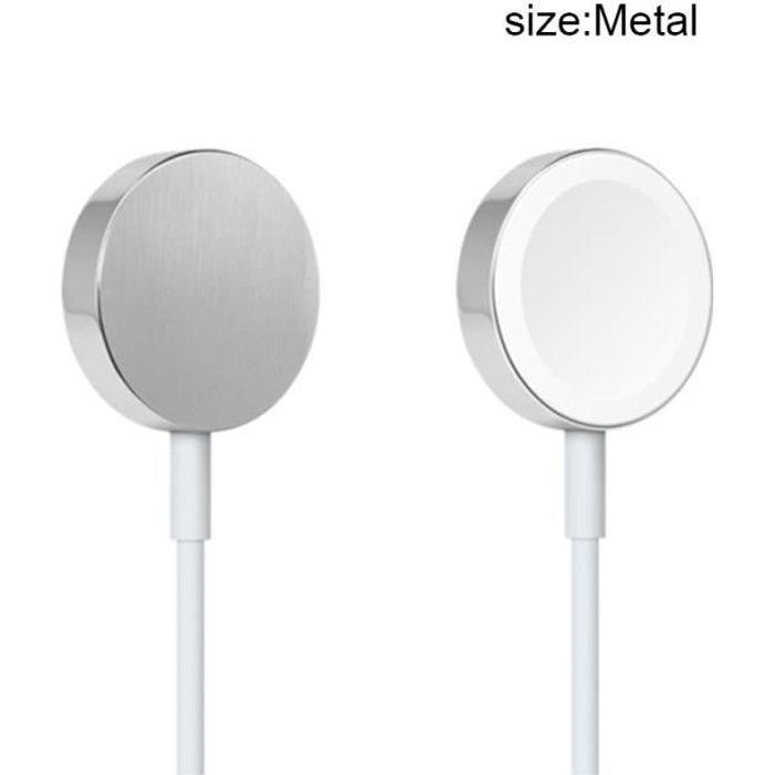 1M Chargeur magnétique pour montre compatible Apple Watch iWatch 38mm / 42mm,Câble de charge,Métal