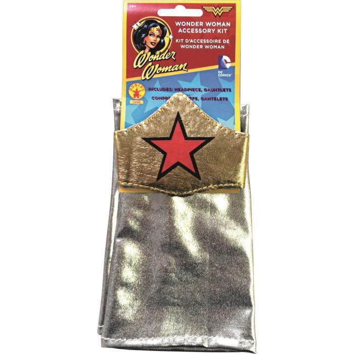 Kit accessoires Wonder Woman (gants et bandeau)