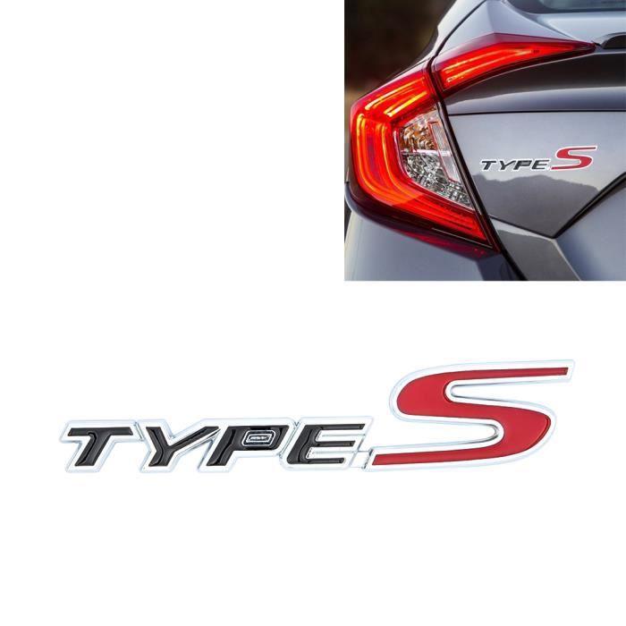 SENZEAL Emblème TYPE S Loge Sticker Voiture Insigne badge Digital Métal Autocollant Auto Décoration