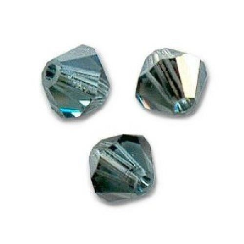 50 Perles Toupies Swarovski® 4mm INDIAN SAPPHIRE SATIN