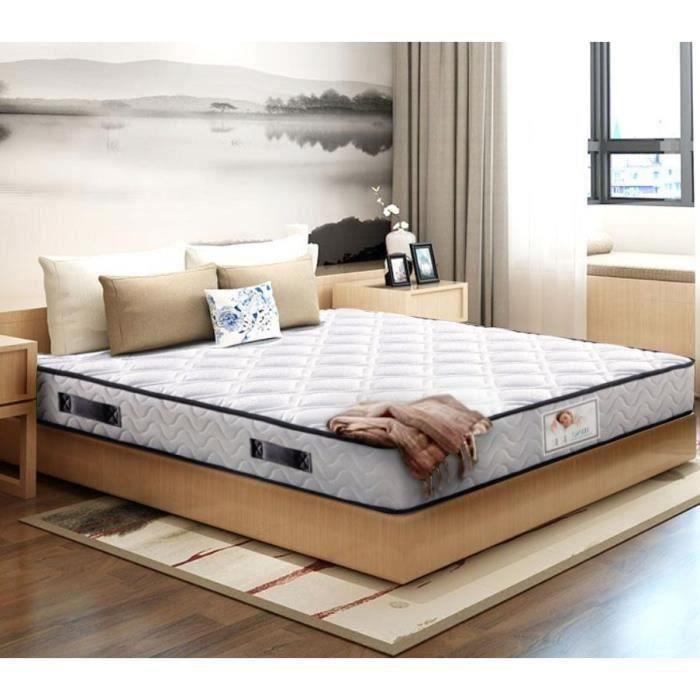 Matelas 140x190 cm Luxe mousse à mémoire Épaisseur 17 cm Gel TEENO® + IZTOSS® mousse HR 7 zones de confort Équilibré