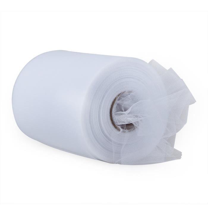 TRIXES Rouleau de Tissu Blanc 6 x 100 yards en Tulle pour Mariage Décoration Nuptiale Voile Noeud de Ruban