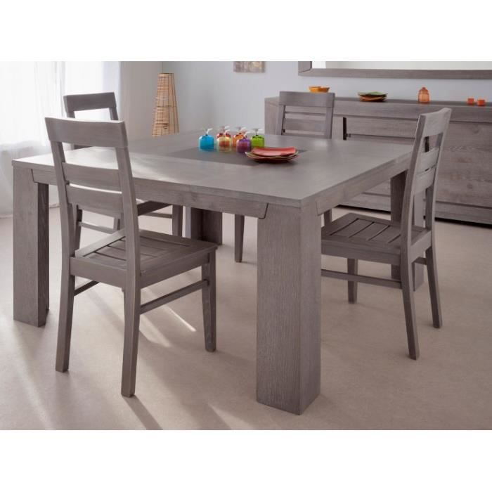 Table carr ch ne gris 39 vermeil 39 achat vente table for Table a manger carre