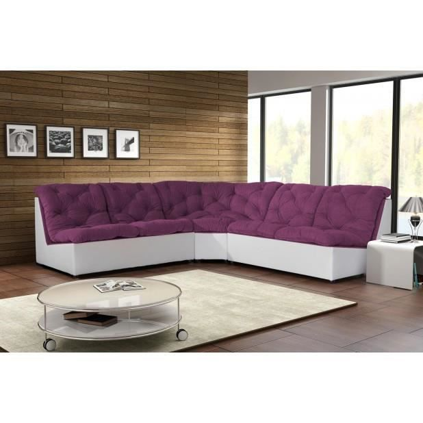 Canap clac d 39 angle prune achat vente canap sofa divan cdiscount - Canape d angle prune ...