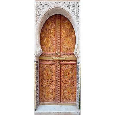 Sticker trompe l oeil porte orientale 100x260cm achat for Decoration porte orientale