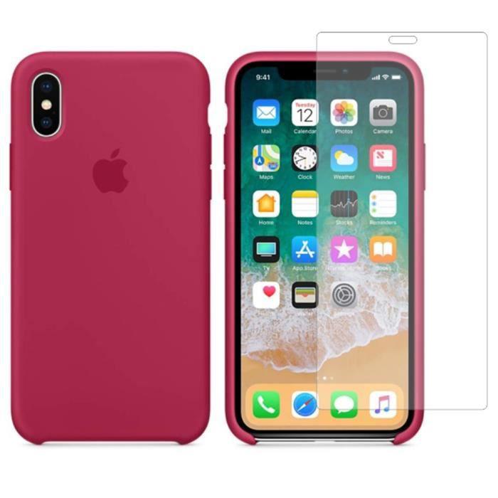 Apple Coque en silicone iPhone X/Xs (5.8'') - Roug