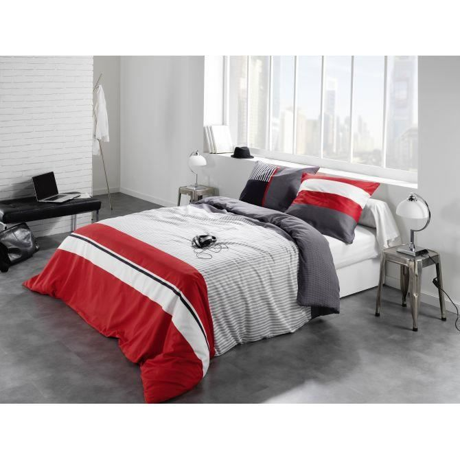 parure de lit caravelle rouge couleur rouge taille. Black Bedroom Furniture Sets. Home Design Ideas