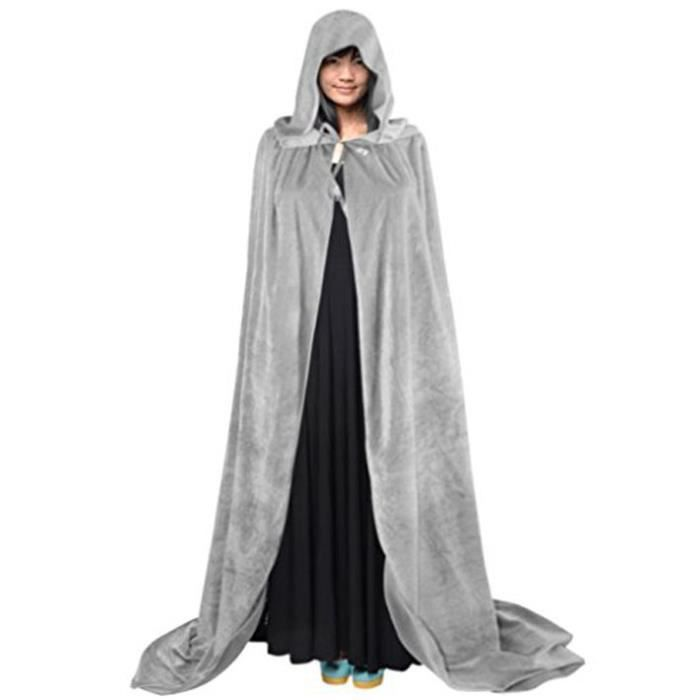 halloween cape capuche poncho capuchon longue costume sorci re diable m di vale manteau femme. Black Bedroom Furniture Sets. Home Design Ideas