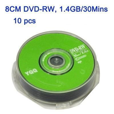 pack de 10 mini dvd rw vierge 1 4gb 30min 8cm prix pas cher cdiscount. Black Bedroom Furniture Sets. Home Design Ideas
