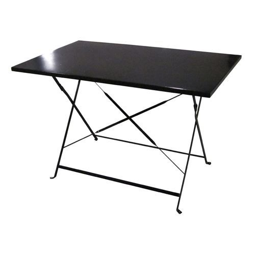 Table de jardin pliante camargue 110 x 70cm noir achat - Table de bridge pliante ...