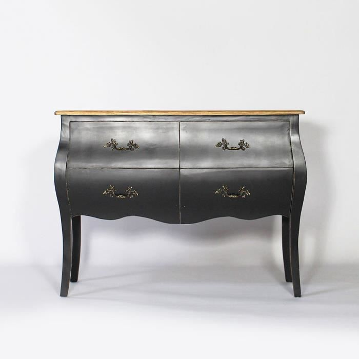 meuble commode baroque bois noir noir achat vente. Black Bedroom Furniture Sets. Home Design Ideas