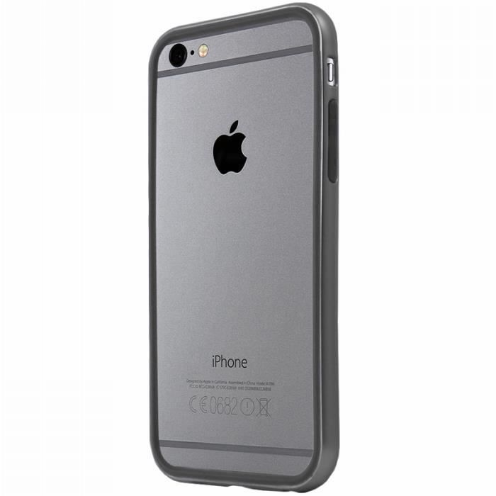 Bumper Luxe Gris foncé contour Noir pour iPhone 6