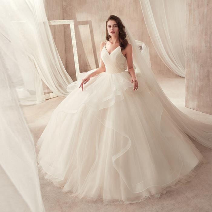 Simple Romantique robe De mariage 2019 A-