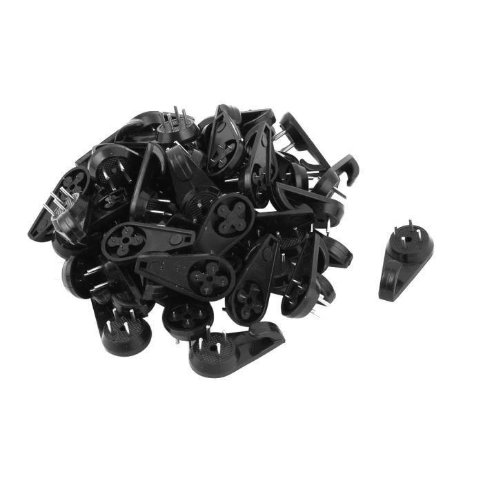 Noir Réglable à Vis Crochet Et Eye Charnière paire
