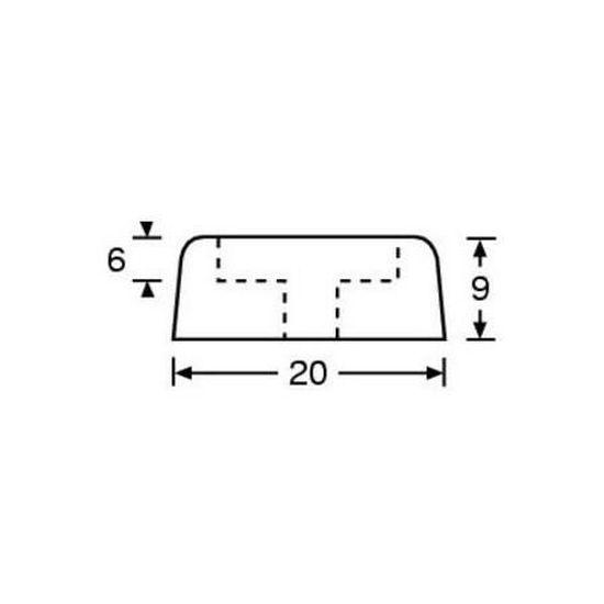 "20 mm Pied en caoutchouc Adam Hall 5//8/""/"""