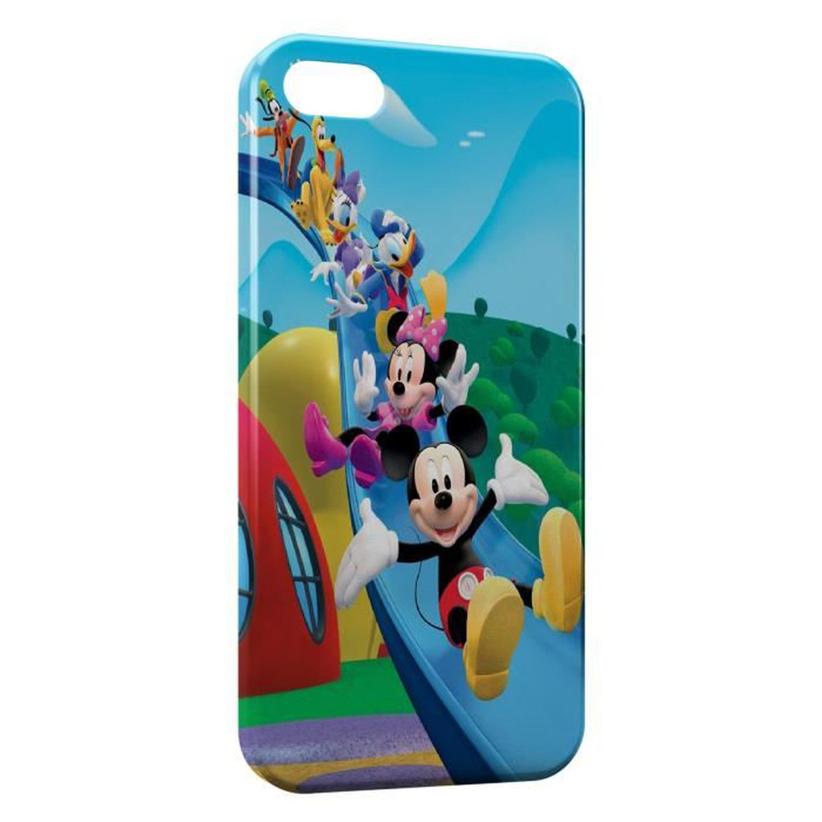 coque iphone 5c mickey minnie donald daisy tobogga