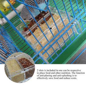 MANGEOIRE - TRÉMIE Mangeoire à oiseaux, Conteneur pour aliments en ac