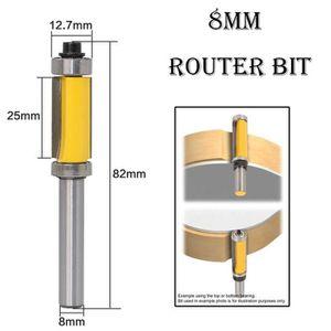 Carbure Fraise /à Bois Outil de Routeur Bits P Prettyia 2pcs Tige 6mm,Fraise de D/éfonceuse Droit Anti-recul en Alliage