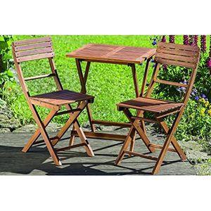 SALON DE JARDIN  Dapo Lounge Set Remo napperon table en bois A + De