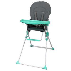 CHAISE HAUTE  BAMBIKID Chaise Haute Fixe Gris Vert Anis