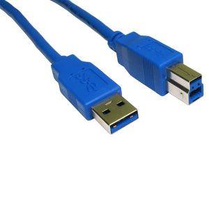 CÂBLE INFORMATIQUE CABLING® Câble USB 3.0 AB M / M 1.8 mètres  Bleu