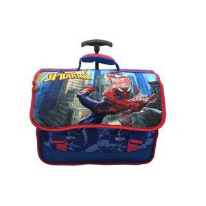 CARTABLE Cartable à roulettes 37cm garçon Héros Spiderman b