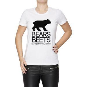 T-SHIRT Bears. Beets. Battlestar Galactica Femme T-Shirt C