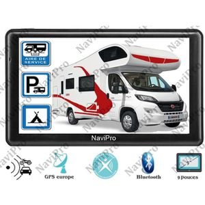 PACK GPS AUTO GPS CAMPING CAR 9 POUCES EUROPE A VIE - NaviPro