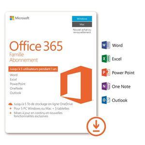 BUREAUTIQUE À TÉLÉCHARGER Microsoft Office 365 Famille