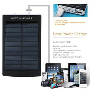 BATTERIE EXTERNE Chargeur solaire 50000mAh 2 USB portable power ban