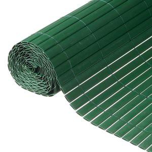 HAIE DE JARDIN NATURE Canisse double face PVC vert - 1 x 3 m - 19