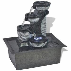 FONTAINE INTÉRIEURE Fontaine avec lumière LED Fontaine d'intérieur Pol
