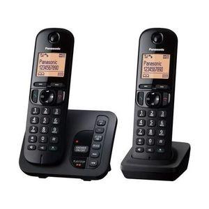 Téléphone fixe Panasonic KX-TGC222EB, Téléphone DECT, Combiné fil