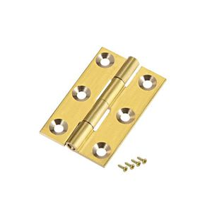 50pcs 16x13mm Bronze antique Mini Charni/ères M/étalliques pour Bo/îte /à bijoux Maison de poup/ées Charni/ères D/écoratives avec Vis