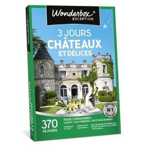 COFFRET SÉJOUR Wonderbox - Box cadeaux - 3 jours châteaux et déli