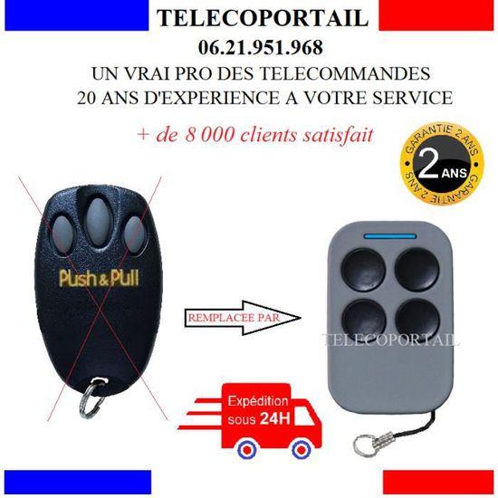 Telecommande Compatible Chamberlain Wayne Dalton Push Pull