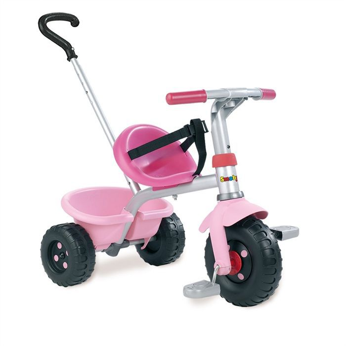smoby tricycle canne be fun rose achat vente tricycle cdiscount. Black Bedroom Furniture Sets. Home Design Ideas