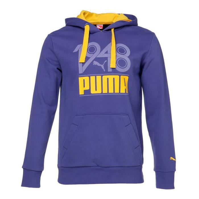 PUMA Sweat à capuche Fun S Casual Homme - Bleu