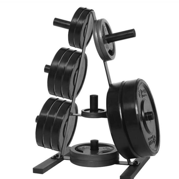 Support D'haltères (sans haltères) Repose-Barre Présentoir Disques de Poids Charge 200KG Rack de Rangement