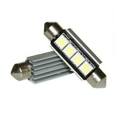 Ampoules LED 42mm 6000K Navette Veilleuses Blanche Canbus Auto Camion 4 smd C5W