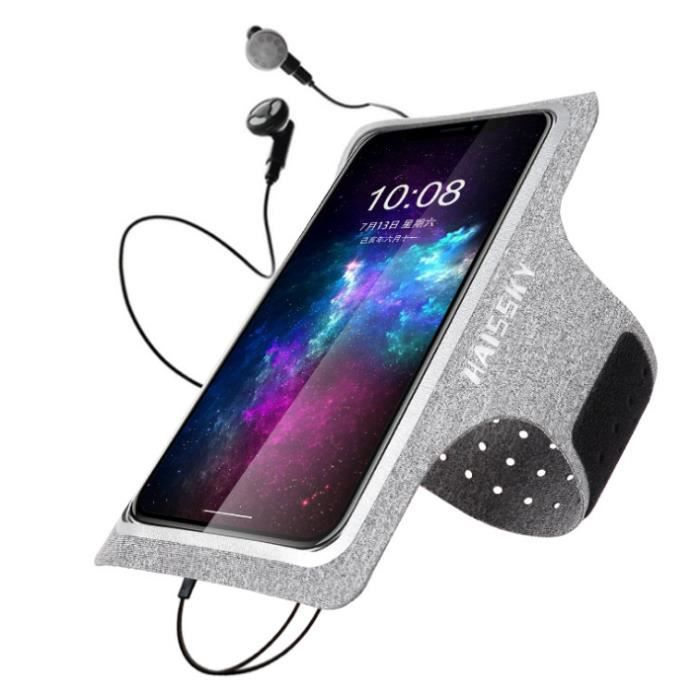 Brassard de Sport avec Poche Airpods, Brassard Sport pour iPhone 11 Pro XR XS X 8 7 6, Brassard Telephone Smartphone Running Brassar