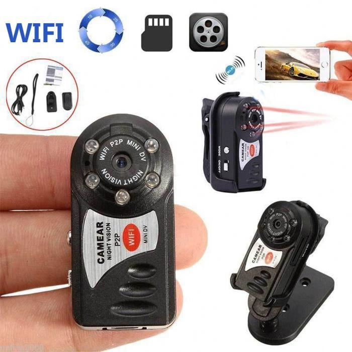 RADAR VITESSE Caméra cachée sans fil WIFI caméra Mini P2P DV Enregistreur vidéo DVR Night Vision Q7 CNN70721436_moll