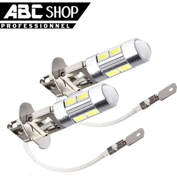 2 AMPOULES H3 10 LED SMD 6000K HALOGENE XENON LAMPE PHARE FEUX TUNING