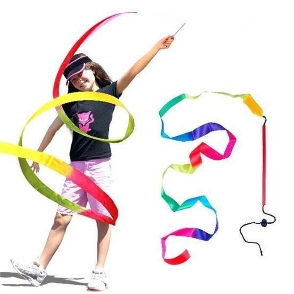 4 m Gymnastique artistique Danse Ruban coloré Ballet Art Rotation Motion Enfants Jouets Coloré 4 m 4 m 4 m Gymnastique artistique