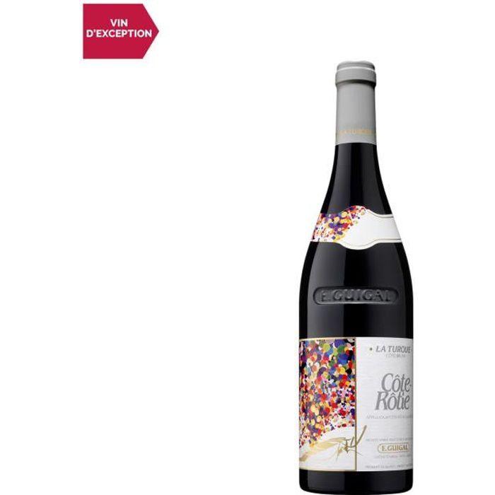 Côte Rôtie La Turque Rouge 2017 - 75cl - Maison Guigal - Vin AOC Rouge de la Vallée du Rhône - Cépages Syrah, Viognier