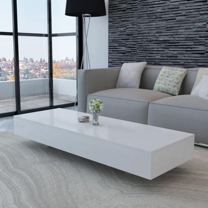 Table basse blanc brillant L.115CM- DM244021T