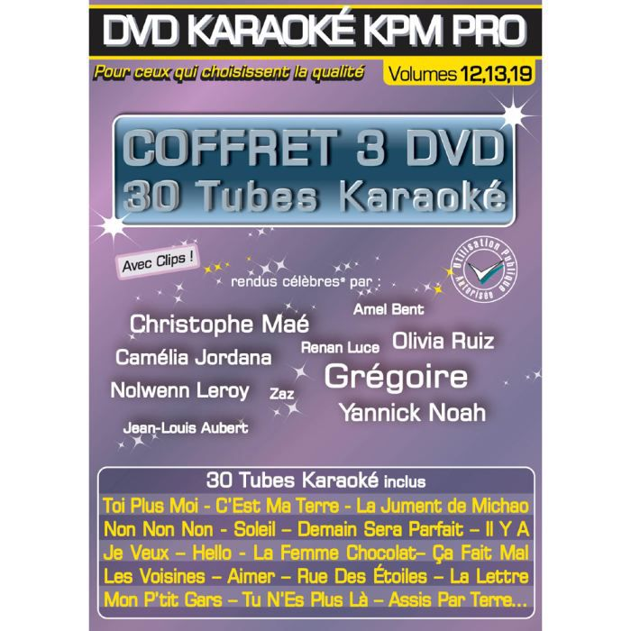 Coffret 3 DVD Karaoké KPM Stars En Scène 2, 3 et 4