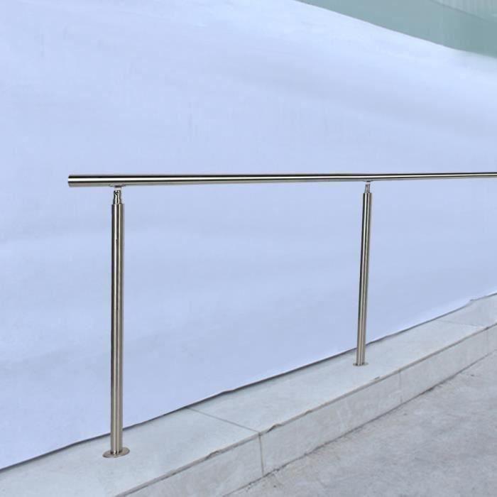 Rampes d'escalier main courante en acier inoxydable barres de rail 80 x 102,5 cm (barre transversale zéro)-CHE
