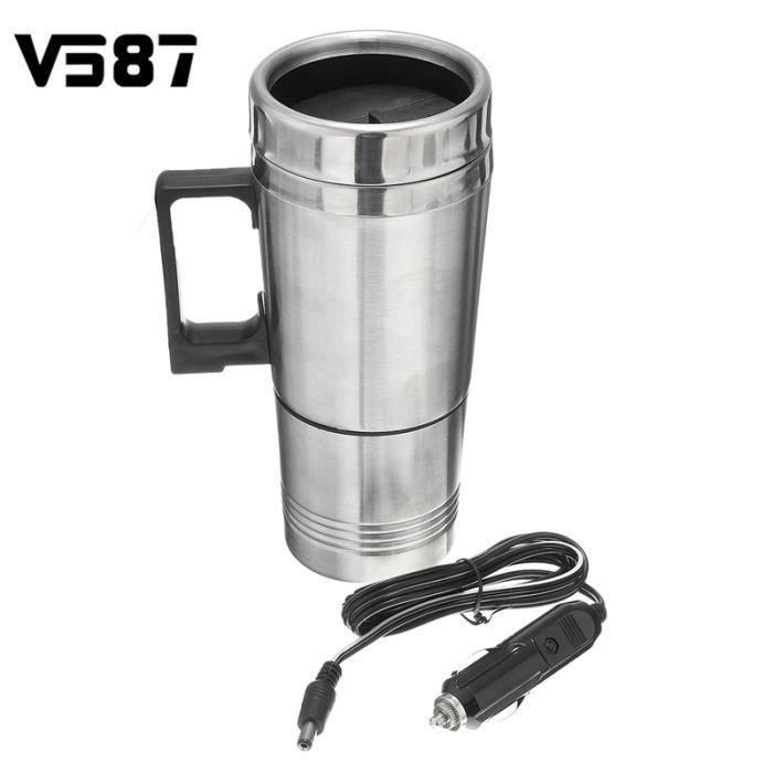 300ML Portable Voiture Bouilloire Electrique Chauffe-Eau Cafetière Thé Allume Cigare Pour Exterieur Voyage Camping 12V Bo14026
